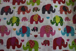 kolorowe słonie - pościel