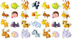 kolorowe zwierzaki