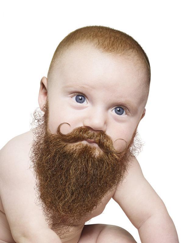 dziecko z brodą