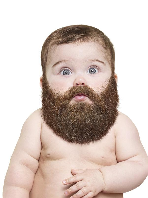 Portrait of bearded baby