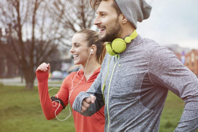 39465634 - endorphins during the jogging with girlfriend